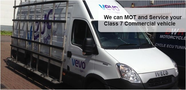 Class 7 Commercial Vehicle MOT and Service