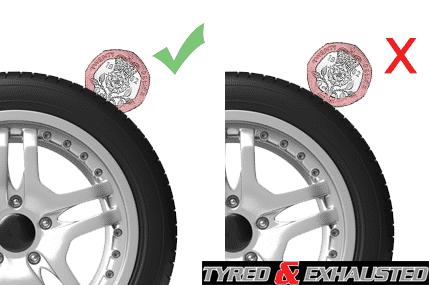 Tread depth 20p test tyres aylesbury